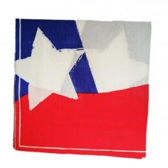 Servilleta Bandera Chile x 12  Decoración Chile
