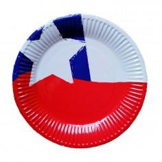 Platos Chile x 10  Decoración Chile