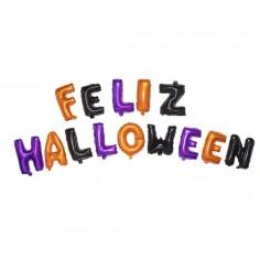 Globo Metálico Letras Feliz Halloween  Decoración Halloween