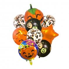 Set 9 Globos Halloween  Decoración Halloween