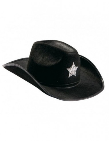 Gorro Cowboy Negro  Gorros de Cotillón