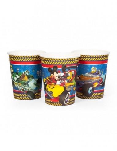 Vaso Mickey Mouse x 6  Cotillón Mickey Mouse