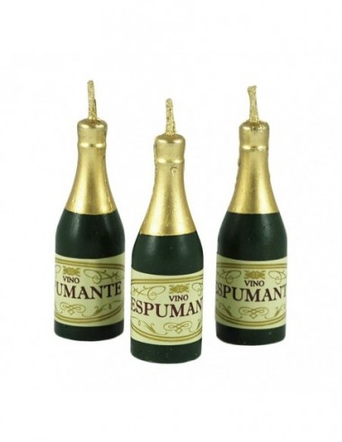 Vela Botella Champaña x 5  Velas