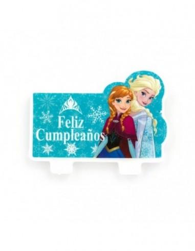 Vela Cumpleaños Frozen 2D  Cotillón Frozen
