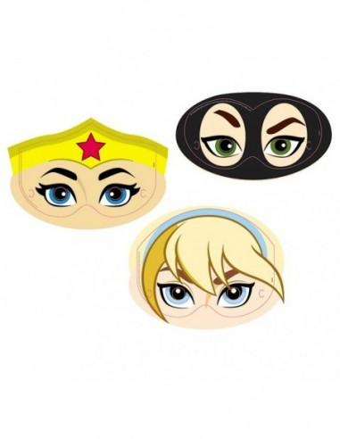 Antifaz Super Hero Girls x 6  Cotillón Super Hero Girls