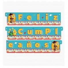 Guirnalda Feliz Cumpleaños Toy Story  Cotillón Toy Story