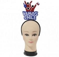 "Cintillo Mensaje ""Vamos Chile""  Cotillón Chile"
