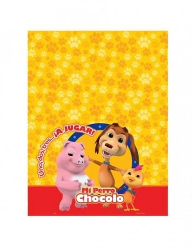 Mantel Perro Chocolo  Cotillón Perro Chocolo