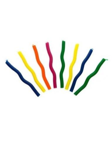 Velas Zig Zag Colores x 10  Velas