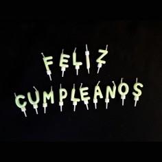 Velas Feliz Cumpleaños Flúor  Velas
