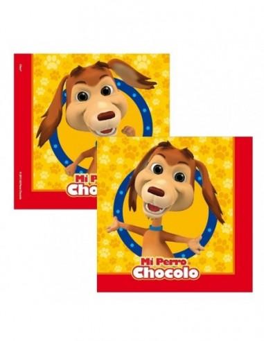Servilleta Perro Chocolo x 12  Cotillón Perro Chocolo