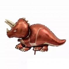 Globo Metálico Dinosaurio Triceratops  Cotillon Dinosaurio