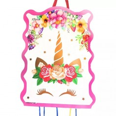 Piñata Unicornio Kawaii  Cotillón Unicornio