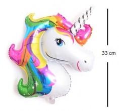 Globo Foil Unicornio 33 cm  Cotillón Unicornio