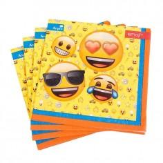 Servilleta Emoji x 12  Cotillón Emoji