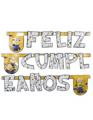 Guirnalda Feliz Cumpleaños Minions  Cotillón Minions