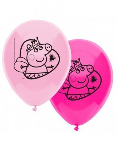 Globo Cumpleaños Peppa Pig x 12  Cotillón Peppa Pig