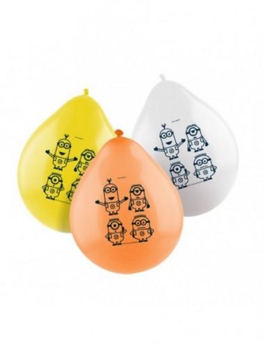 Globo Cumpleaños Minions x 12  Cotillón Minions