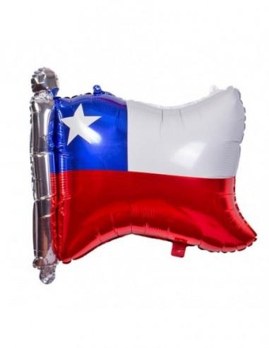 Globo Metálico Bandera Chile  Decoración Chile