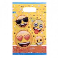 Bolsa Dulces Emoji x 6  Cotillón Emoji