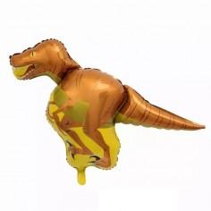 Globo Metálico Dinosaurio Velociraptor  Cotillon Dinosaurio