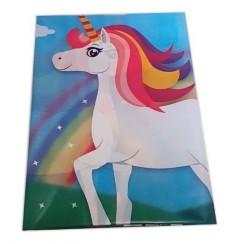Mantel Unicornio Celeste  Cotillón Unicornio