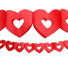 Guirnalda Corazones  Cotillón Día de la Mamá y Enamorados