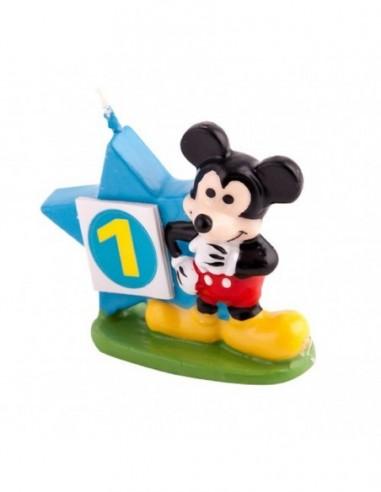 Vela Mickey Mouse 3D  Cotillón Mickey Mouse