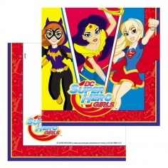 Servilleta Super Hero Girls x 12  Cotillón Super Hero Girls