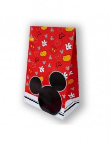 Bolsa Dulces Mickey Clásico x 6  Cotillón Mickey Mouse