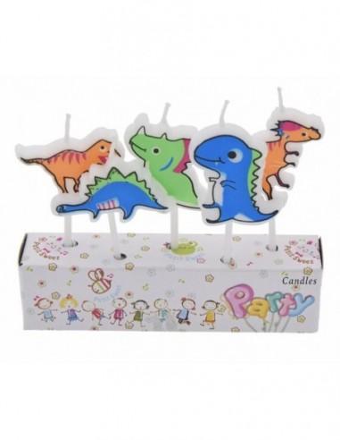Vela Dinosaurio x 5  Cotillon Dinosaurio