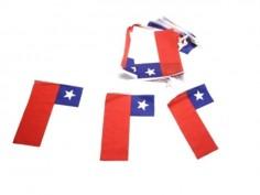 Guirnalda Banderas Chile 5 mts  Decoración Chile
