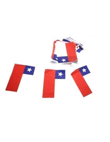 Guirnalda Banderas Chile 3 mts  Decoración Chile