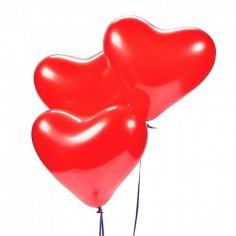 Globo Látex Corazón x 6  Cotillón Día de la Mamá y Enamorados