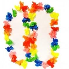 Collar Hawaiano Fluor Multicolor  Accesorios Cotillón