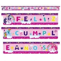 Guirnalda Feliz Cumpleaños My Little Pony  Cotillón My Little Pony