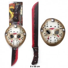 Set Jason Vorhees  Cotillón y Disfraces Halloween