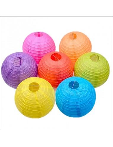 Pantalla Decoración 25 cms Colores  Guirnaldas y Colgantes