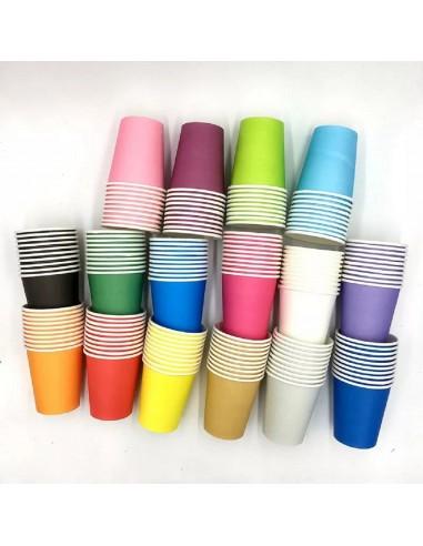Vaso Polipapel Colores x 10  Línea Colores