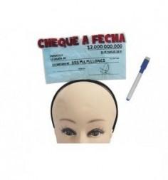 """Cintillo Mensaje """"Cheque a Fecha""""  Accesorios Cotillón"""