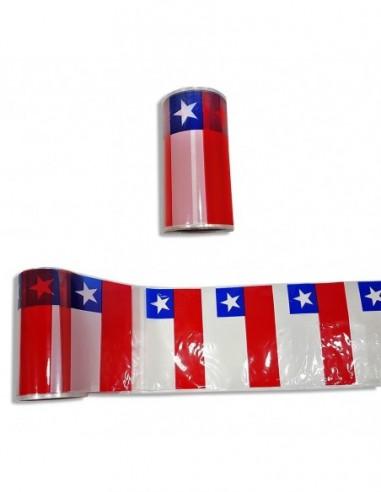 Guirnalda Banderas Rollo Chile 50 mts  Decoración Chile