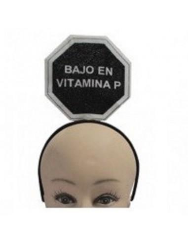 Cintillo Mensaje Vitamina P  Accesorios Cotillón