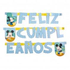 Guirnalda Feliz Cumpleaños Mickey Baby  Cotillón Disney Baby