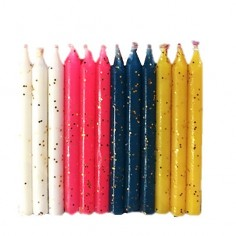 Vela Colores Glitter $ 650