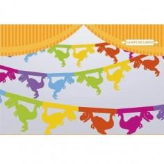 Guirnalda Dinosaurio Multicolor  Cotillon Dinosaurio