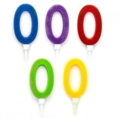 Vela XL Glitter Números $ 1.800