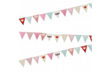 Banderín Diseños Corazón  Cotillón Día de la Mamá y Enamorados