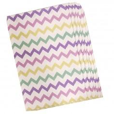 Bolsa Dulces Chevrón Pastel x 10  Líneas Diseño