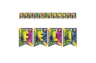 Guirnalda Feliz Cumpleaños Fortnite Llama  Cotillón Fortnite