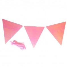 Globos Transparentes con confetti rosado